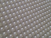 300 X 4mm Stick on Self Adhesive White Pearl Gems Wedding Cards Craft Ivory