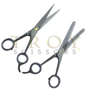 15cm professional Barber Saln Hair Stylist Hairdresser Hair Cutting Very Sharp Razor Edge Titanium Coated Hair Cutting and Texturizing Shears Scissors Set+case