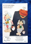 Bunny Shirt Design Applique Patterns - 28cm & 36cm & Button Necklace Instructions