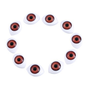 Generic Oval Plastic Doll Eyes Pack of 20pcs Brown
