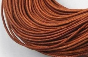 5 Metres 2mm Brown Round Geniune Leather Cord Jewellery Good for DIY Ideas