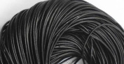 5 Metres 2mm Black Round Geniune Leather Cord Jewellery Good for DIY Ideas