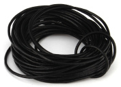 10 Metres 2mm Black Round Geniune Leather Cord Jewellery Good for DIY Ideas