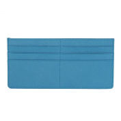 Women's Credit Card Slim Leather Wallet Zipper Pocket Purse for Clutch Bag