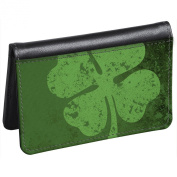 Snaptotes Slim Leather Accent Lucky Irish Shamrock ID Debit Wallet