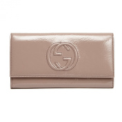Gucci Soho Leather continental wallet 282414 Soft Pink Blush Patent Leather