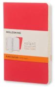 Moleskine Volant Journal (Set of 2), Pocket, Ruled, Geranium Red, Scarlet Red, Soft Cover