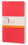 Moleskine Volant Journal (Set of 2), Large, Ruled, Geranium Red, Scarlet Red, Soft Cover