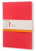 Moleskine Volant Journal (Set of 2), Extra Large, Ruled, Geranium Red, Scarlet Red, Soft Cover