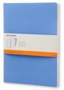 Moleskine Volant Journal (Set of 2), Extra Large, Ruled, Powder Blue, Royal Blue, Soft Cover