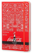 Moleskine Coca-Cola Limited Edition Notebook, Large, Ruled, Scarlet Red, Hard Cover