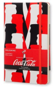 Moleskine Coca-Cola Limited Edition Notebook, Large, Plain, Scarlet Red, Hard Cover
