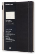 Moleskine Pro Collection Workbook, A4, Ruled, Black, Hard Cover