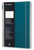 Moleskine Pro Collection Workbook, A4, Plain, Tide Green, Hard Cover
