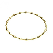 OWC Sterling Silver Vermeil Bamboo Bangle