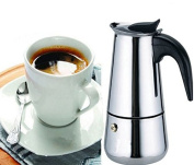 New 2 Cup Stainless Steel Moka Espresso Latte Percolator Stove Top Coffee Maker Pot