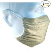 Honeycomb Beige Elastic Strap Dust Mask By Breathe Healthy 3-Pack - Washable, Lawn & Garden, Woodworking, Dust, Drywall & Sanding