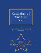 Calendar of the Civil War - War College Series