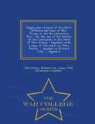 Digest and Revision of Stryker's Officers and Men of New Jersey in the Revolutionary War