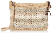 The SAK Casual Classics 3 in 1 Clutch Shoulder Bag, Sand Stripe, One Size