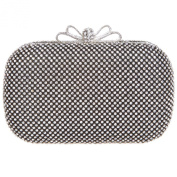 Fawziya Bow Clutch Purse Rhinestone Crystal Box Clutch Evening Bags