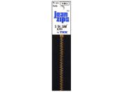 YKK #5 Jeans ~ Brass Zipper 13cm ~ Black