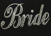Bride Bridal Wedding Marriage Rhinestone Transfer Iron on Motif Hot Fix Bling Applique - DIY