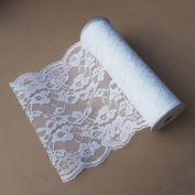 White Lace Ribbon Floral Trim Patterned 36cm , 10 Yards