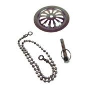 Danco 88922 Bath Overflow Plate with Chain