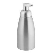 InterDesign Metro Rustproof Aluminium Foaming Soap Dispenser Pump, for Kitchen or Bathroom - Brushed/Matte Silver