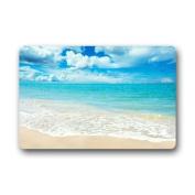 Blue Sea Sun of Beach Machine Washable Non-slip Doormat, 23.6(L) x 15.7(W) Inch
