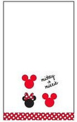 Disney Mickey Mouse/Minnie Mouse 28cm X 16.5 100% Cotton Embroidered Hand Towel
