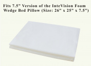 InteVision 400 Thread Count, 100% Egyptian Cotton Pillowcase. Designed to Fit the 19cm version of the InteVision Foam Wedge Bed Pillow