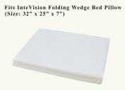 InteVision 400 Thread Count, 100% Egyptian Cotton Pillowcase. Designed to Fit the InteVision Folding Wedge Bed Pillow