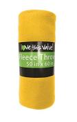 Cosy 50 X 60 Fleece Throw Blanket -Yellow