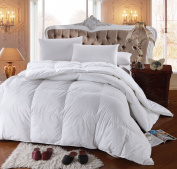 Royal Hotel's 300 Thread Count Queen Size Goose Down Alternative Comforter 100% Cotton 300 TC - 750FP - 2070ml - White Solid