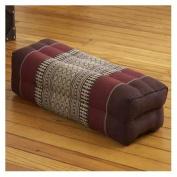 My Zen Home Long Pillow, Brown/Burgundy
