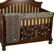 Cotton Tale Designs Front Crib Rail Cover Up Set, Sumba