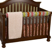 Cotton Tale Designs Front Crib Rail Cover Up Set, Here Kitty Kitty