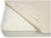 Naturepedic Organic Cotton Waterproof Pad with Straps - Twin XL - Beige