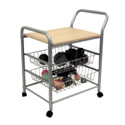 Frenchi Home Furnishing 2-Tier Serving Cart, Cherry