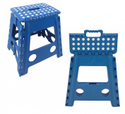 Easy Life Carry Folding Step Stool / Seat With Anti-Slip Surface 38cm For Kids Works Home - Blue