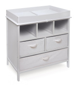 Badger Basket Company Estate Baby Changing Table, White