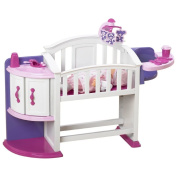 Toy / Game Wonderful American Plastic Toy My Very Own Nursery Set with Crib, storage shelf and cupboard