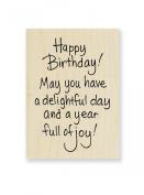 "Stampendous Wooden Handle Rubber Stamp, ""Delightful Birthday"""