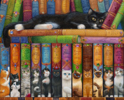 Cat Bookshelf Jigsaw Puzzle 1000 Piece