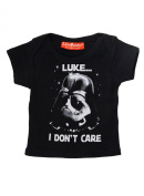 Luke I Dont Care Star Wars Inspired Funny Alternative 100% Supersoft Cotton Baby T Shirt Baby Gift