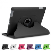 Doupi 360° PU Leatherette Deluxe Slipcover for Apple iPad 2 3 4 Case Cover 360 Deg Rotatable Kickstand Protective Pouch Pocket Sleeve Display Protection black black Für iPad 2/3/4