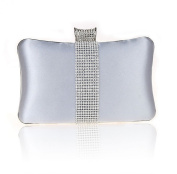 Graceful Evening Bag Hard Case Diamante Rhinestone Clutch Wedding Bridal Purse