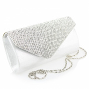 Aarz Women Ladies Diamante Envelope Shaped Evening Clutch Bag Wedding Purse Party Prom Bag